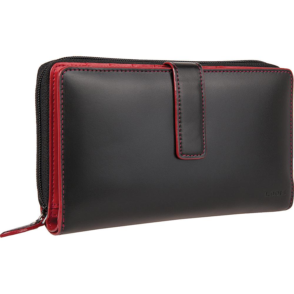 Lodis Audrey Deluxe Checkbook Clutch - Black - Women's SLG, Women's Wallets