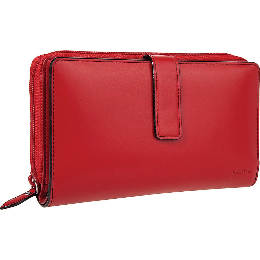 Lodis Audrey Deluxe Checkbook Clutch - Red - Women's SLG, Women's Wallets