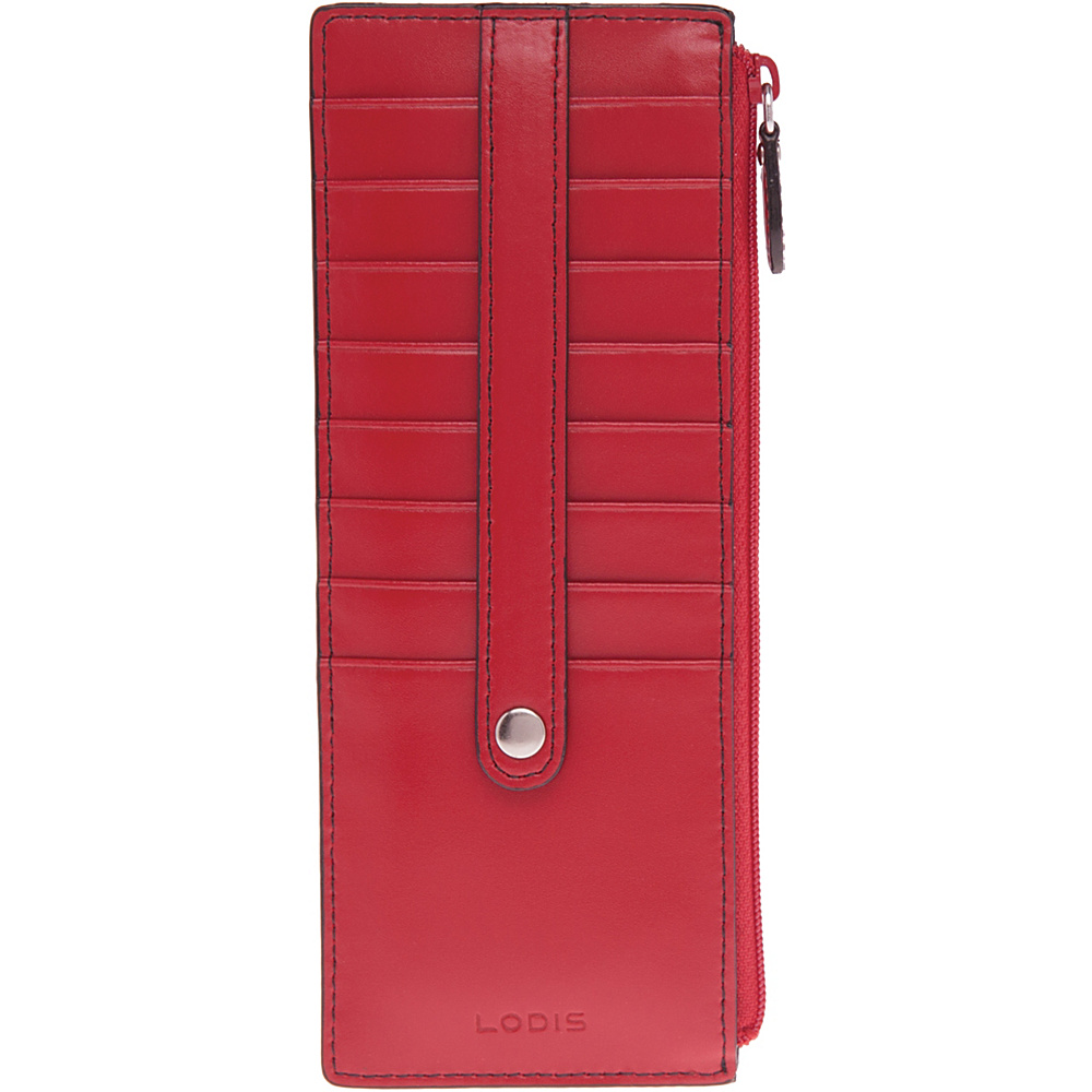 Lodis Audrey Credit Card Case With Zip Pocket - Red
