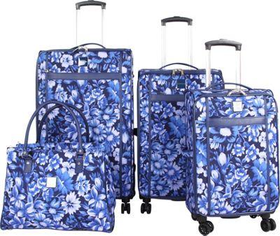 Isaac Mizrahi Lantana 4 Piece Luggage  Set Blue - Isaac Mizrahi Luggage Sets