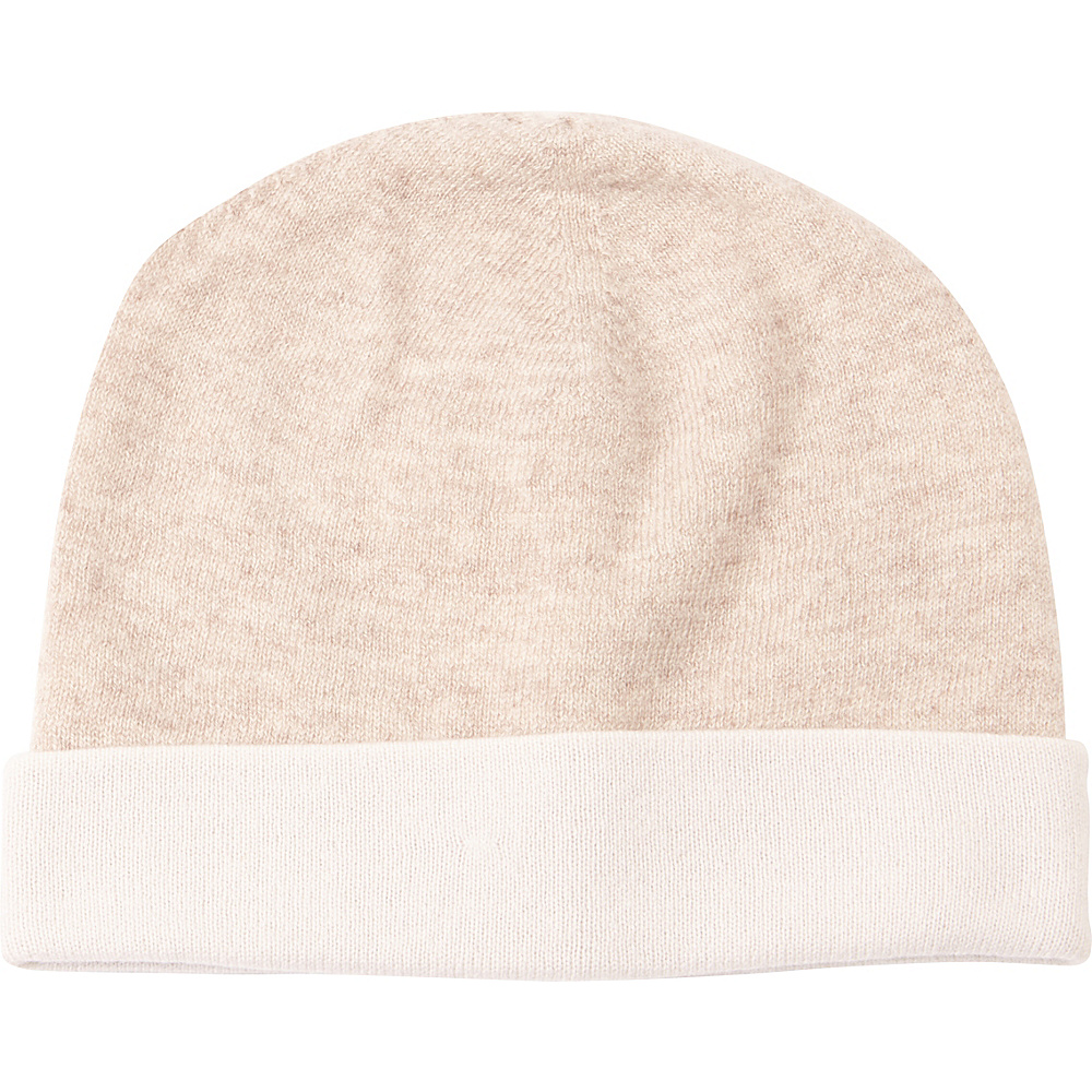 Kinross Cashmere Reversible Hat One Size - Fawn/Ivory - Kinross Cashmere Hats/Gloves/Scarves - Fashion Accessories, Hats/Gloves/Scarves