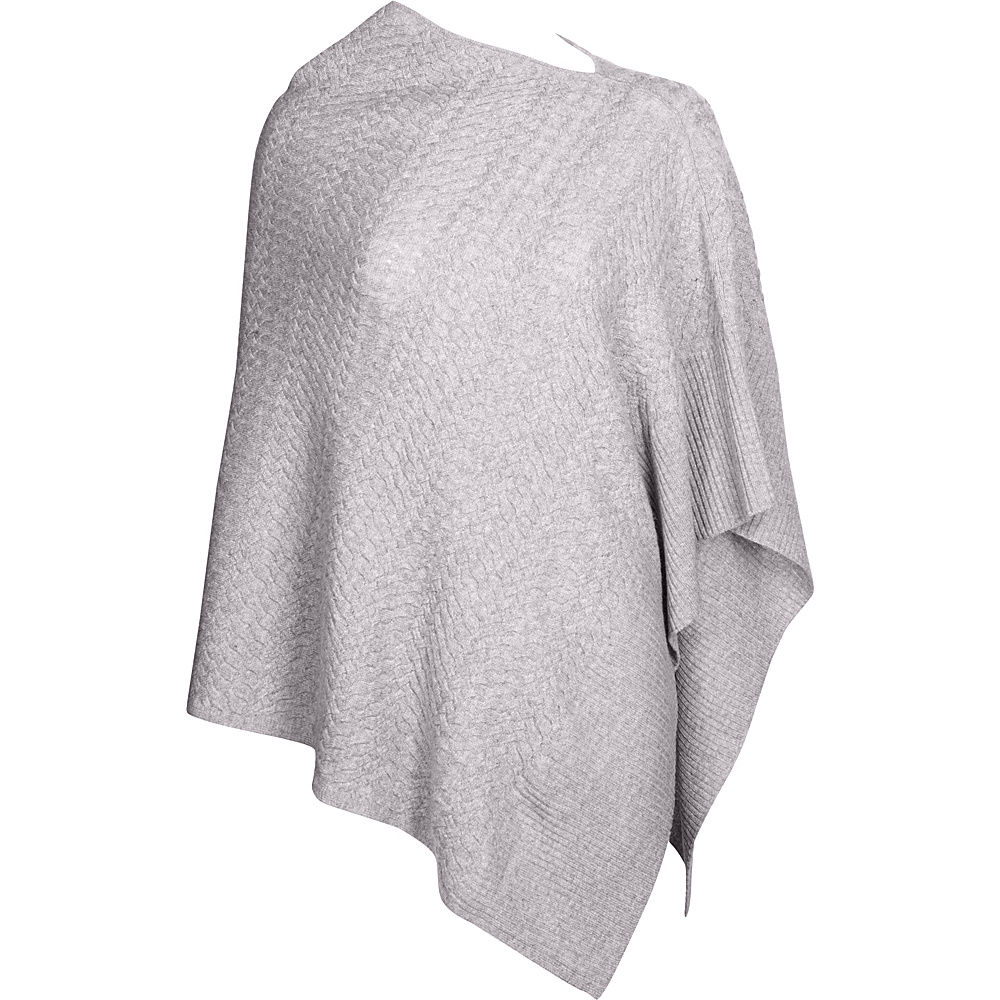 Kinross Cashmere Cable Drape Poncho One Size  - Thistle - Kinross Cashmere Womens Apparel - Apparel & Footwear, Women's Apparel