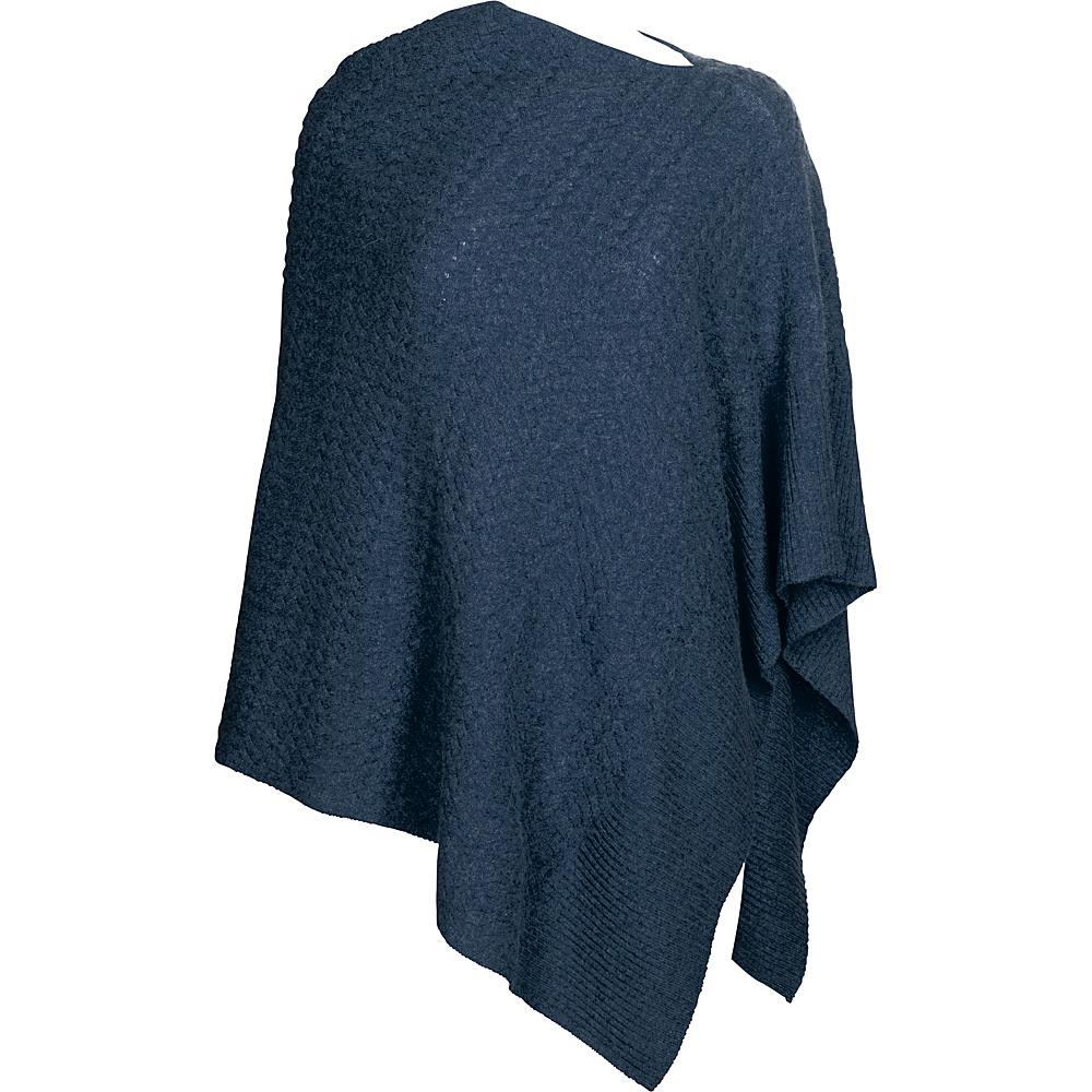 Kinross Cashmere Cable Drape Poncho One Size  - Dusk - Kinross Cashmere Womens Apparel - Apparel & Footwear, Women's Apparel