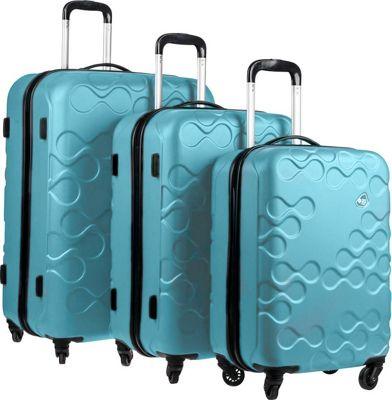 Kamiliant Harrana 3 Piece Hardside Spinner Luggage Set Turquoise - Kamiliant Luggage Sets