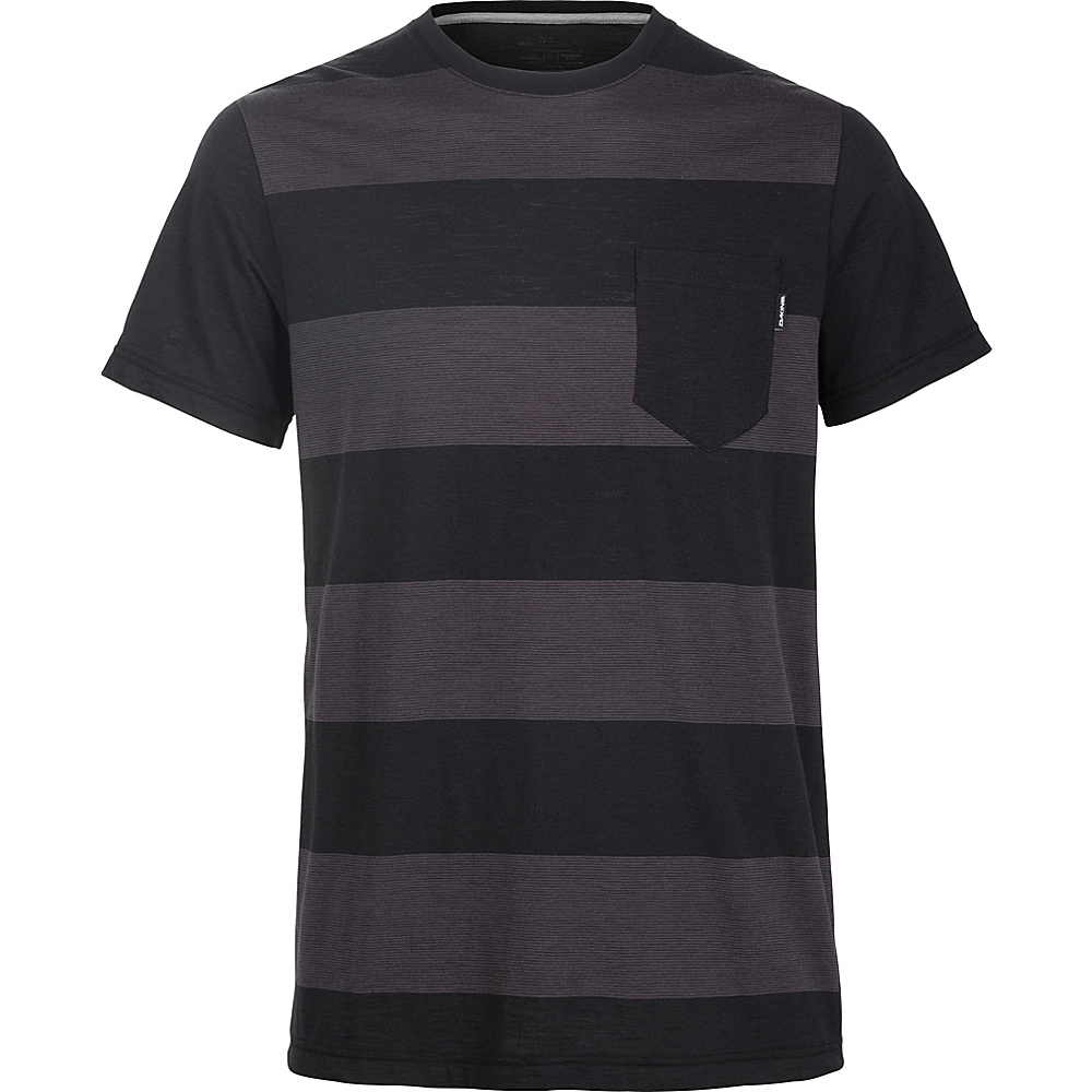 DAKINE Mens Creek Striped Pocket Tee L - Black - DAKINE Mens Apparel - Apparel & Footwear, Men's Apparel