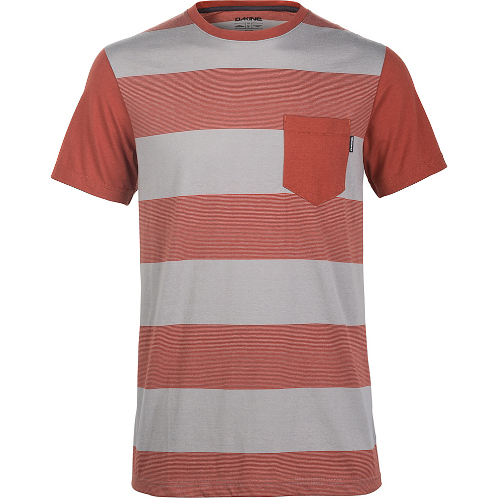 DAKINE Mens Creek Striped Pocket Tee S - Griffin - DAKINE Mens Apparel - Apparel & Footwear, Men's Apparel