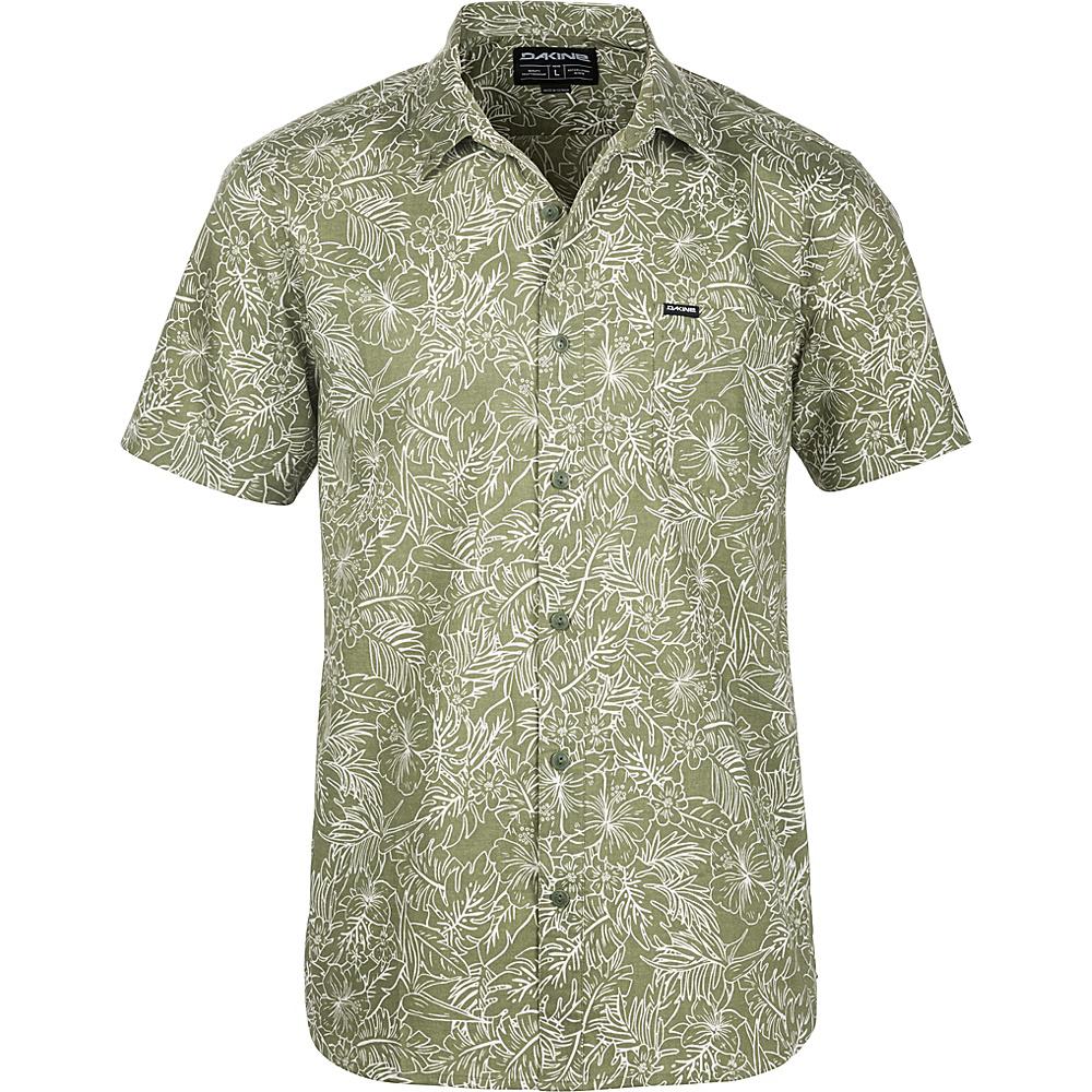DAKINE Mens Poipu Short Sleeve Woven Shirt M - Surplus Kapalua Palm - DAKINE Mens Apparel - Apparel & Footwear, Men's Apparel