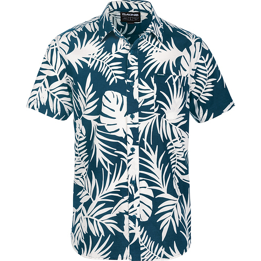 DAKINE Mens Poipu Short Sleeve Woven Shirt M - MIDNIGHT WAILUA PALM - DAKINE Mens Apparel - Apparel & Footwear, Men's Apparel
