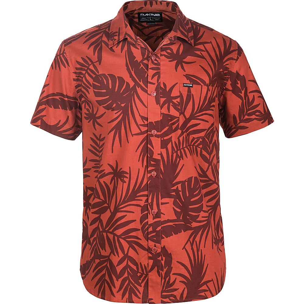 DAKINE Mens Poipu Short Sleeve Woven Shirt XL - Brick Wailua Palm - DAKINE Mens Apparel - Apparel & Footwear, Men's Apparel