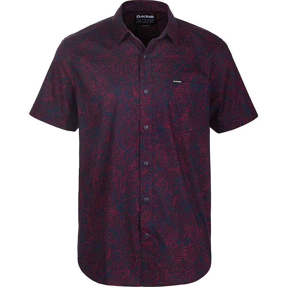 DAKINE Mens Poipu Short Sleeve Woven Shirt XL - Rosewood Kapalua Palm - DAKINE Mens Apparel - Apparel & Footwear, Men's Apparel