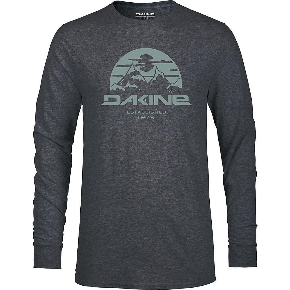 DAKINE Mens Yoder Long Sleeve Tech T-Shirt L - Heather Black - DAKINE Mens Apparel - Apparel & Footwear, Men's Apparel