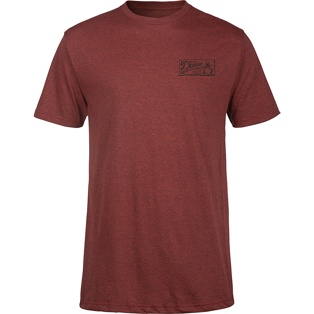 DAKINE Mens Vagabond T-Shirt S - Brick Black Heather - DAKINE Mens Apparel - Apparel & Footwear, Men's Apparel