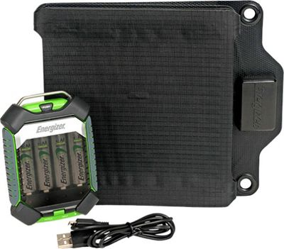 Energizer Energizer PowerKeep Solar 12 Portable Solar Battery Charger Black - Energizer Portable Batteries & Chargers