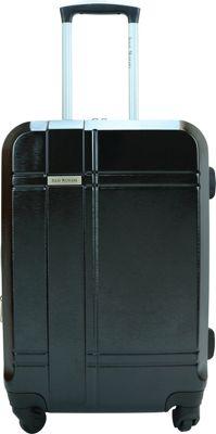 Isaac Mizrahi Conway 25 inch Expandable Hardside Checked Spinner Luggage Black - Isaac Mizrahi Hardside Checked