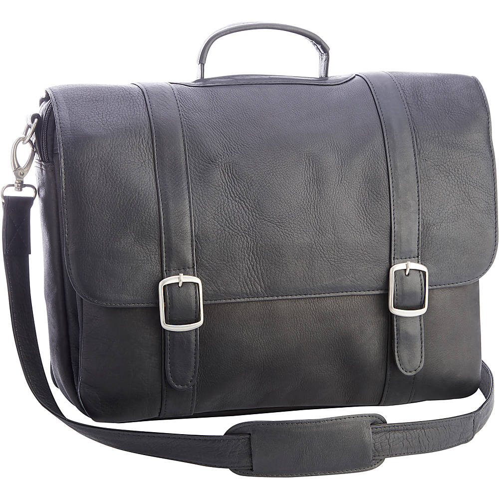 Royce Leather Colombian Leather 15 Laptop Satchel Brief Black - Royce Leather Other Mens Bags - Work Bags & Briefcases, Other Men's Bags
