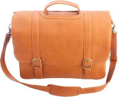 """Royce Leather Colombian Leather 15"""" Laptop Satchel Brief Tan - Royce Leather Other Men's Bags"""