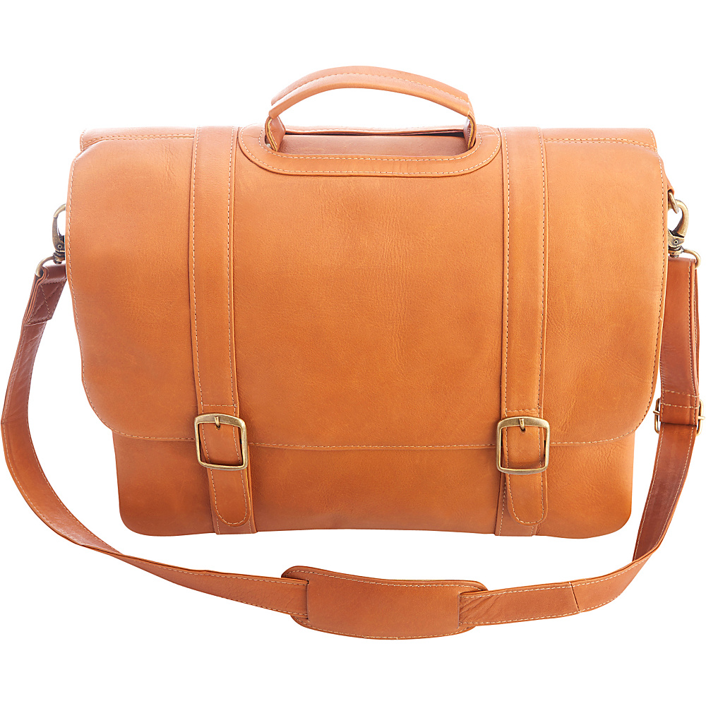 Royce Leather Colombian Leather 15 Laptop Satchel Brief Tan - Royce Leather Other Mens Bags - Work Bags & Briefcases, Other Men's Bags