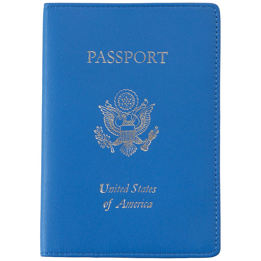 Royce Leather RFID Blocking Leather Passport Case Royce Blue - Royce Leather Travel Wallets - Travel Accessories, Travel Wallets