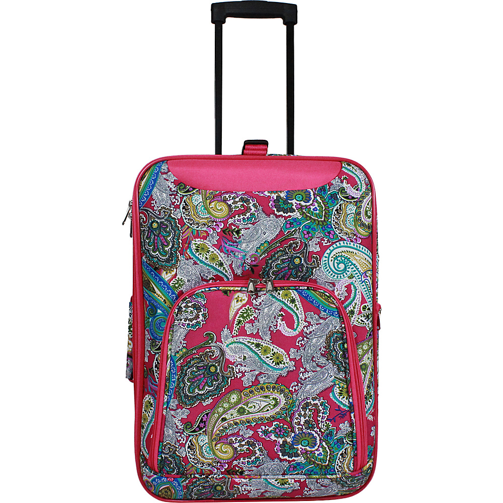 World Traveler 20 Lightweight Carry-on Suitcase Pink Multi Paisley - World Traveler Softside Carry-On - Luggage, Softside Carry-On
