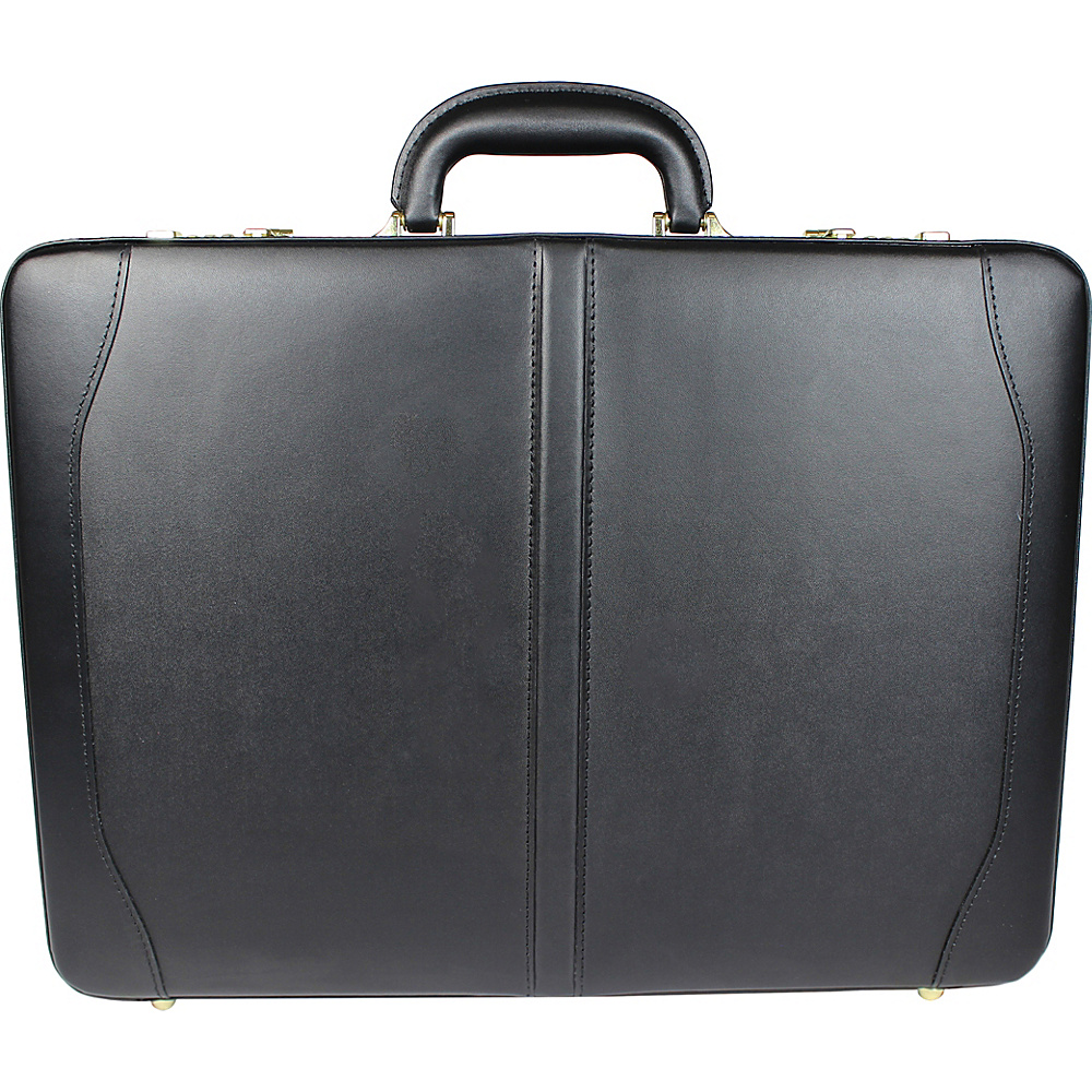 World Traveler Avenues Executive Leather Expandable Attache Briefcase Black - World Traveler Non-Wheeled Business Cases - Work Bags & Briefcases, Non-Wheeled Business Cases
