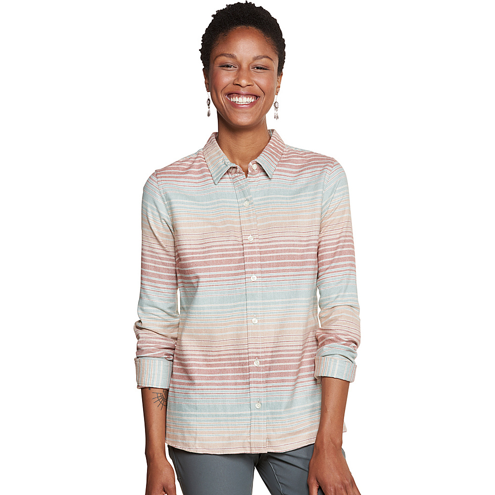 Toad & Co Lightfoot Long Sleeve Shirt L - Chai - Toad & Co Womens Apparel - Apparel & Footwear, Women's Apparel