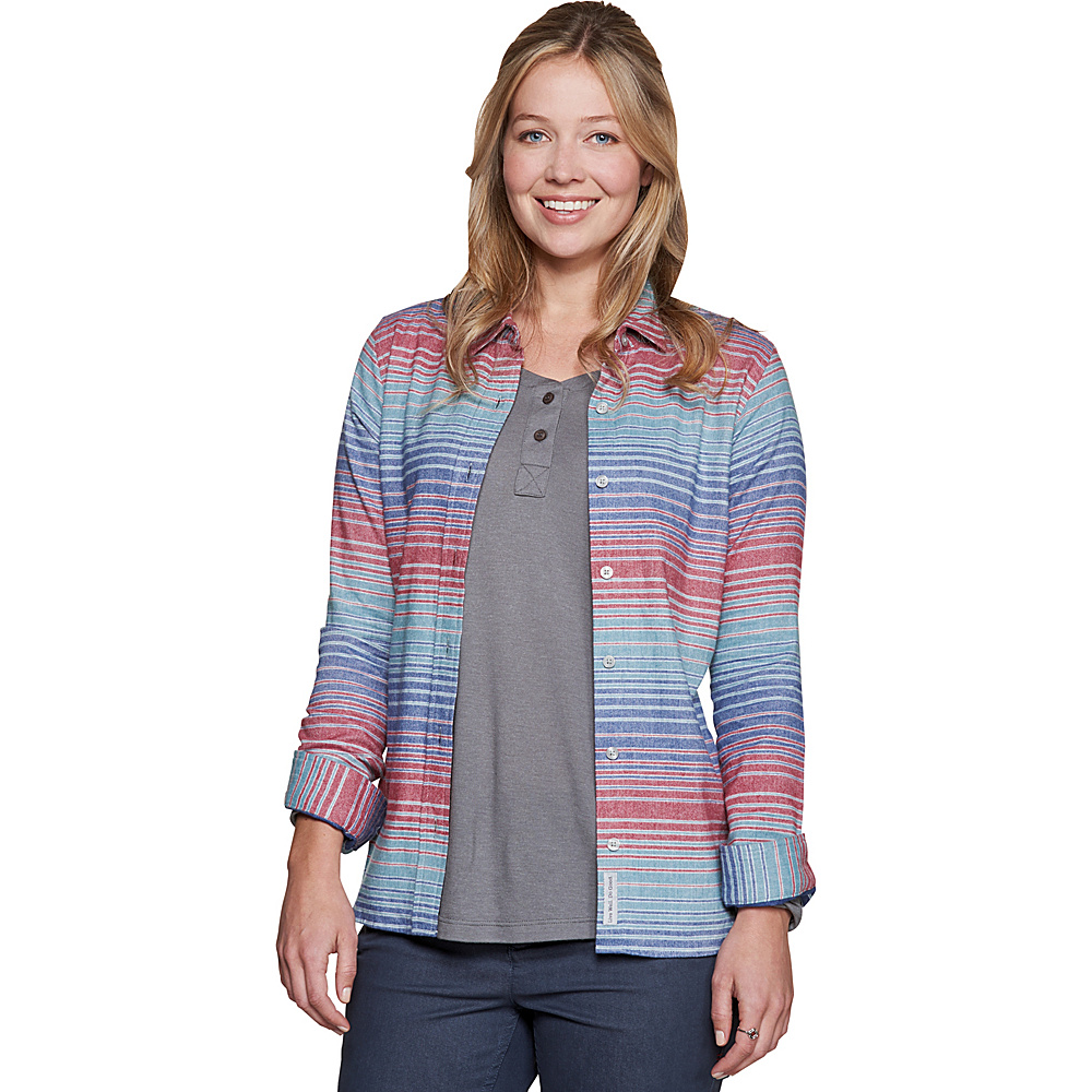 Toad & Co Lightfoot Long Sleeve Shirt M - Hydro - Toad & Co Womens Apparel - Apparel & Footwear, Women's Apparel