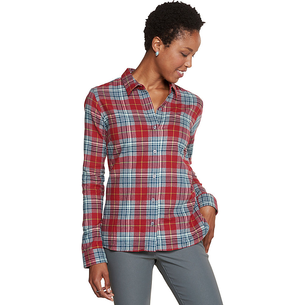 Toad & Co Lightfoot Long Sleeve Shirt L - Sanguine Red - Toad & Co Womens Apparel - Apparel & Footwear, Women's Apparel