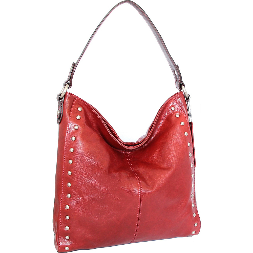 Nino Bossi Kalin Hobo Red - Nino Bossi Leather Handbags - Handbags, Leather Handbags