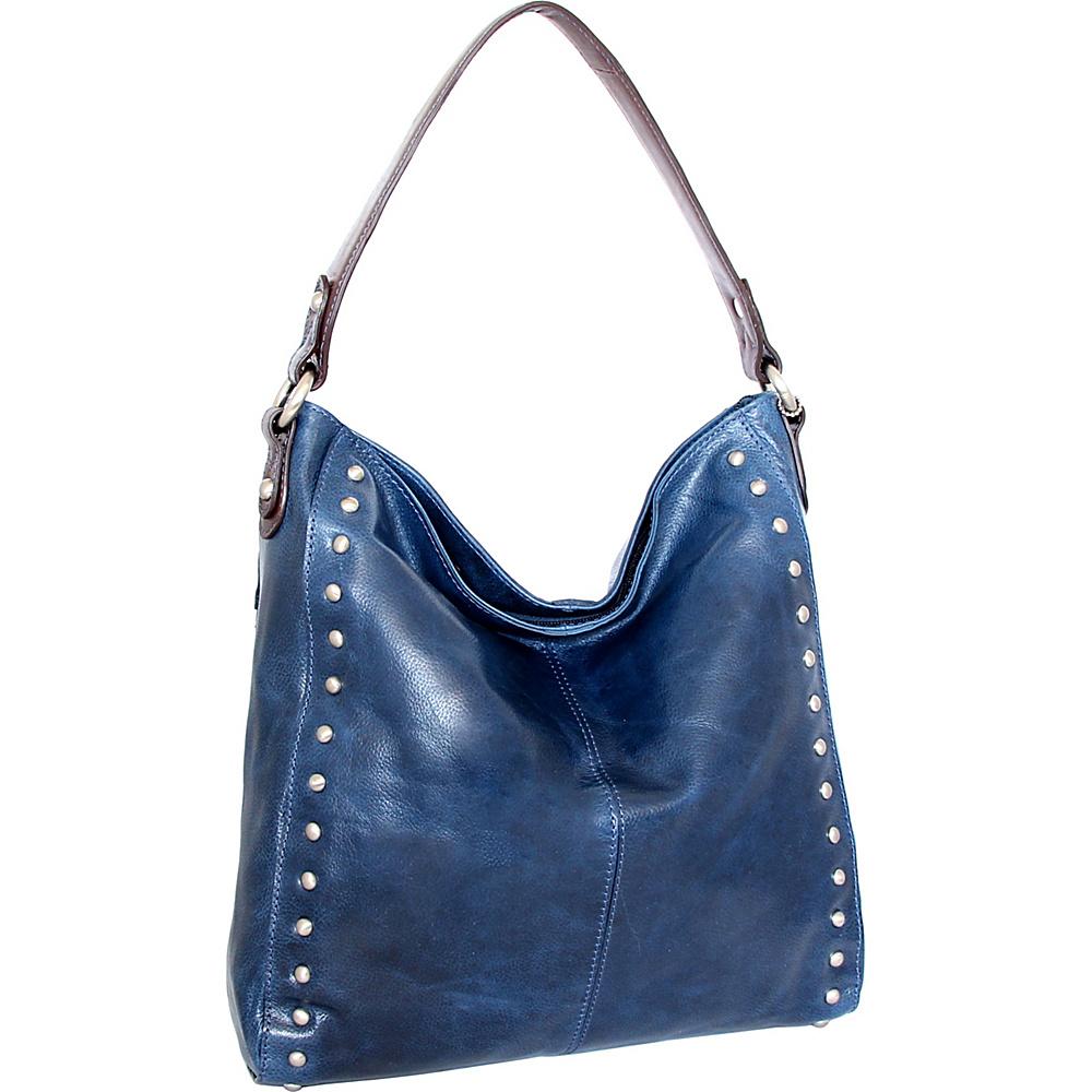Nino Bossi Kalin Hobo Blue - Nino Bossi Leather Handbags - Handbags, Leather Handbags