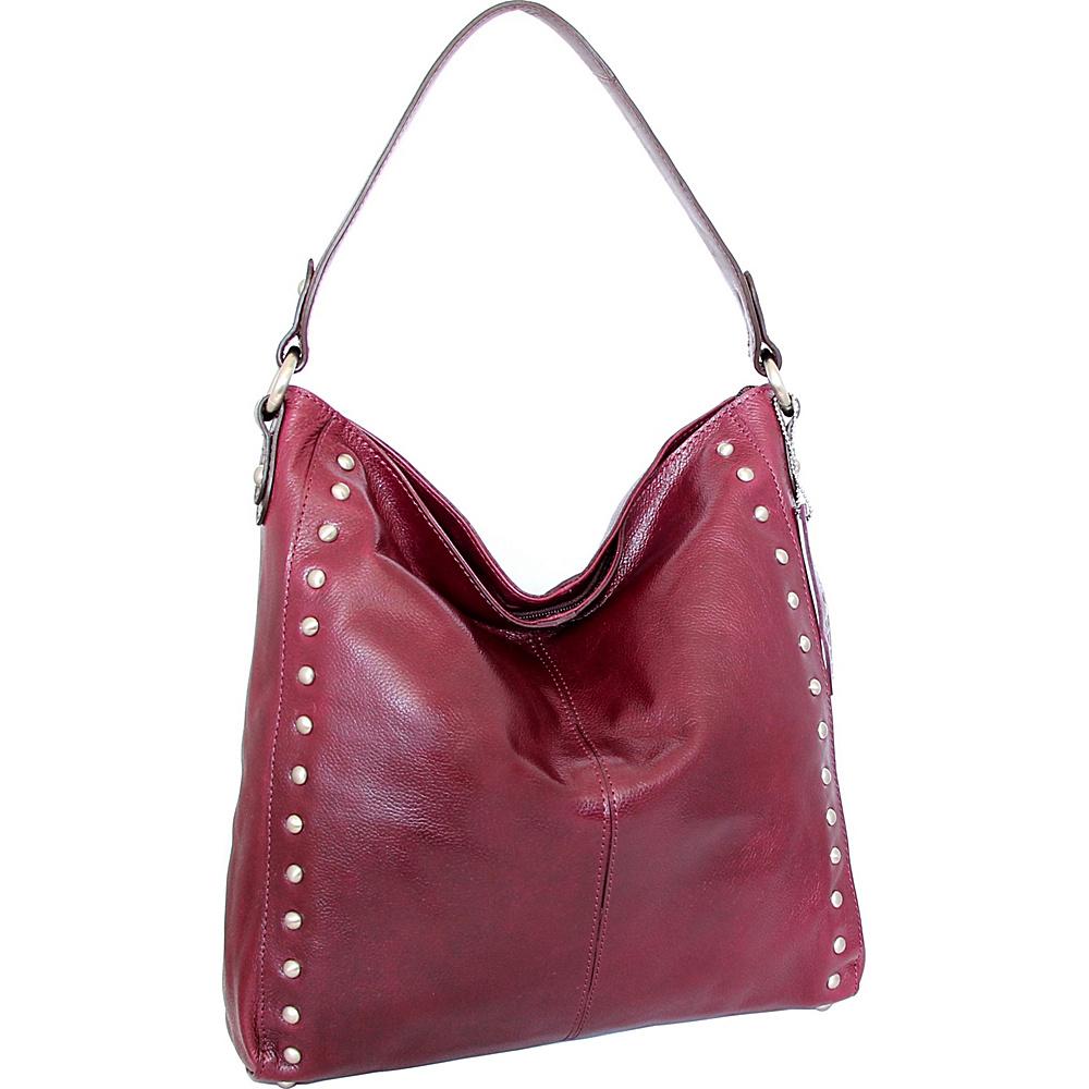Nino Bossi Kalin Hobo Plum - Nino Bossi Leather Handbags - Handbags, Leather Handbags