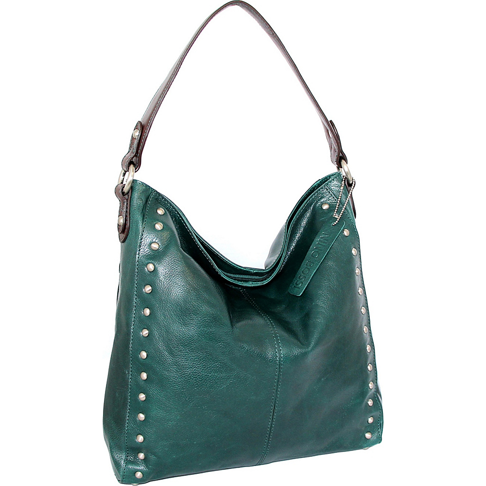 Nino Bossi Kalin Hobo Green - Nino Bossi Leather Handbags - Handbags, Leather Handbags