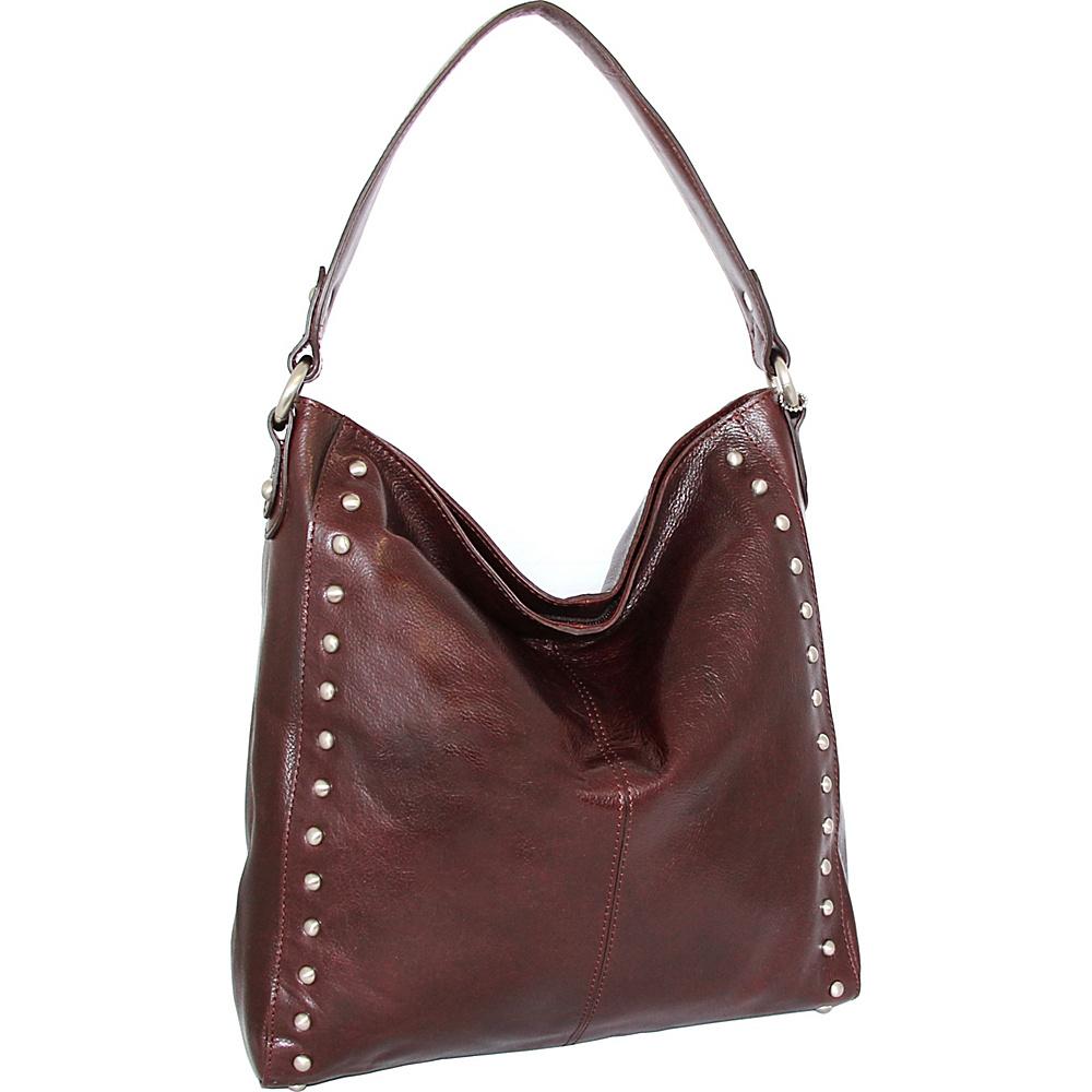 Nino Bossi Kalin Hobo Walnut - Nino Bossi Leather Handbags - Handbags, Leather Handbags