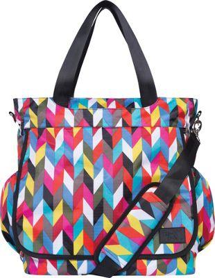Trend Lab French Bull Tote Diaper Bag Ziggy Multi - Trend Lab Diaper Bags & Accessories