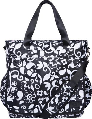 Trend Lab French Bull Tote Diaper Bag Vine Black and White - Trend Lab Diaper Bags & Accessories