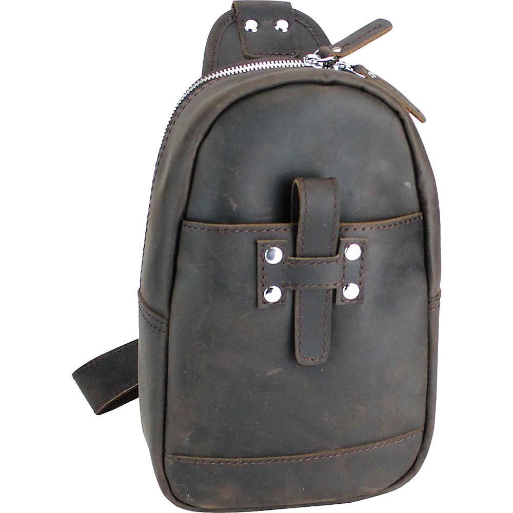 Vagabond Traveler Leather Chest Pack Travel Companion Dark Brown - Vagabond Traveler Slings - Backpacks, Slings