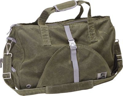 aTana Bags Swami Weekender Yoga Gym Bag Olive with Gray Topo - aTana Bags Yoga Bags