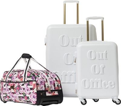 MacBeth Out of Office 3 Piece Luggage Set White - MacBeth Luggage Sets