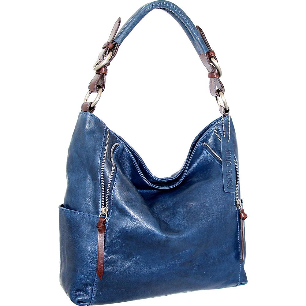 Nino Bossi Jazlyn Shoulder Bag Blue - Nino Bossi Leather Handbags - Handbags, Leather Handbags