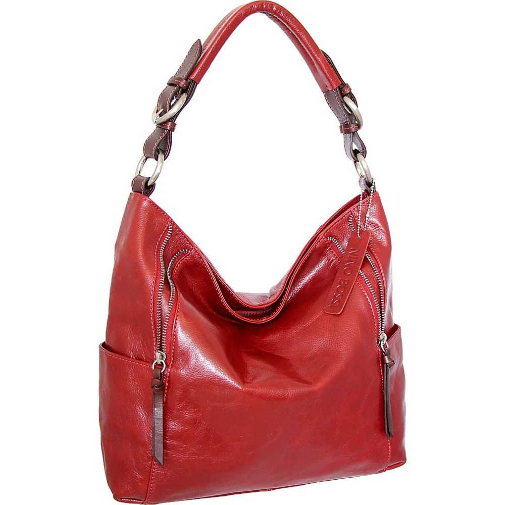 Nino Bossi Jazlyn Shoulder Bag Red - Nino Bossi Leather Handbags - Handbags, Leather Handbags