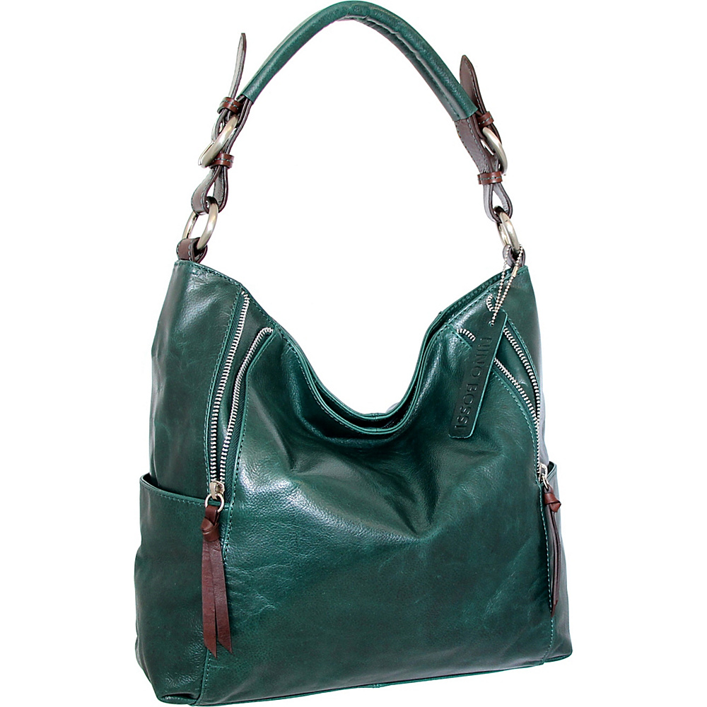 Nino Bossi Jazlyn Shoulder Bag Green - Nino Bossi Leather Handbags - Handbags, Leather Handbags