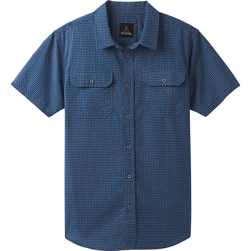 PrAna Blakely Short Sleeve Shirt S - Equinox Blue - PrAna Mens Apparel - Apparel & Footwear, Men's Apparel