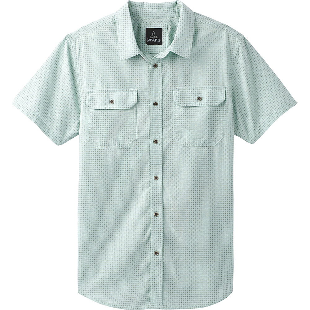 PrAna Blakely Short Sleeve Shirt XXL - Turtle Green - PrAna Mens Apparel - Apparel & Footwear, Men's Apparel