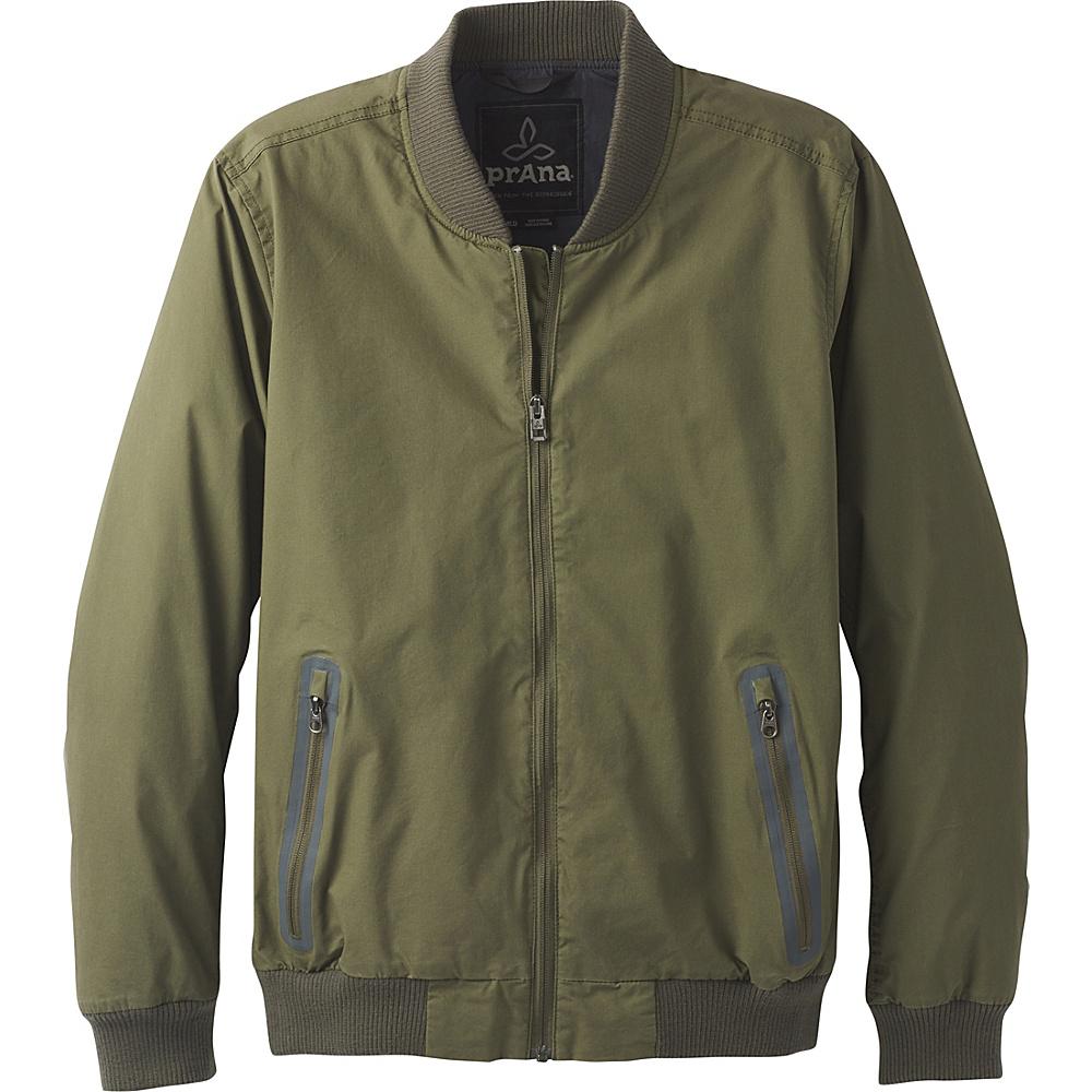 PrAna Brookridge Bomber Jacket L - Cargo Green - PrAna Mens Apparel - Apparel & Footwear, Men's Apparel