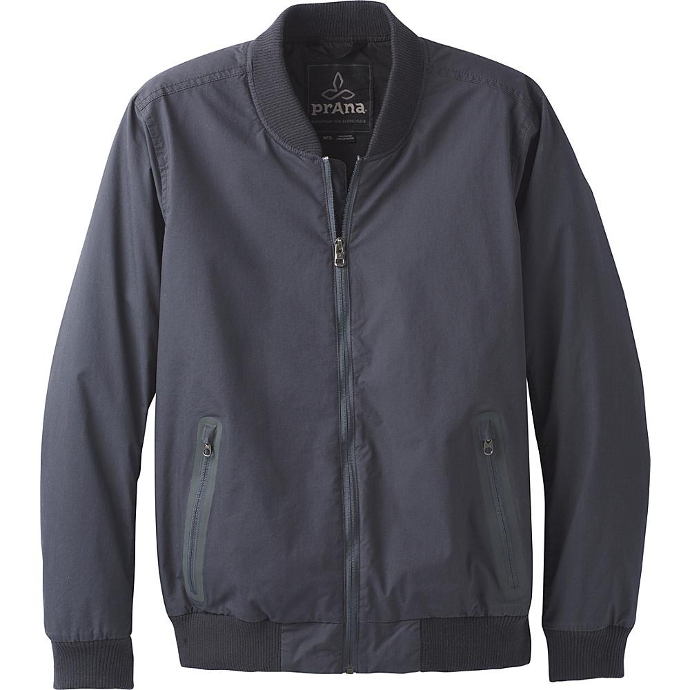 PrAna Brookridge Bomber Jacket S - Coal - PrAna Mens Apparel - Apparel & Footwear, Men's Apparel