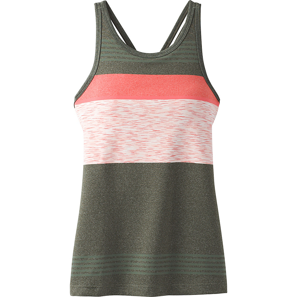 PrAna Alois Top M - Forest Heather Stripe - PrAna Womens Apparel - Apparel & Footwear, Women's Apparel