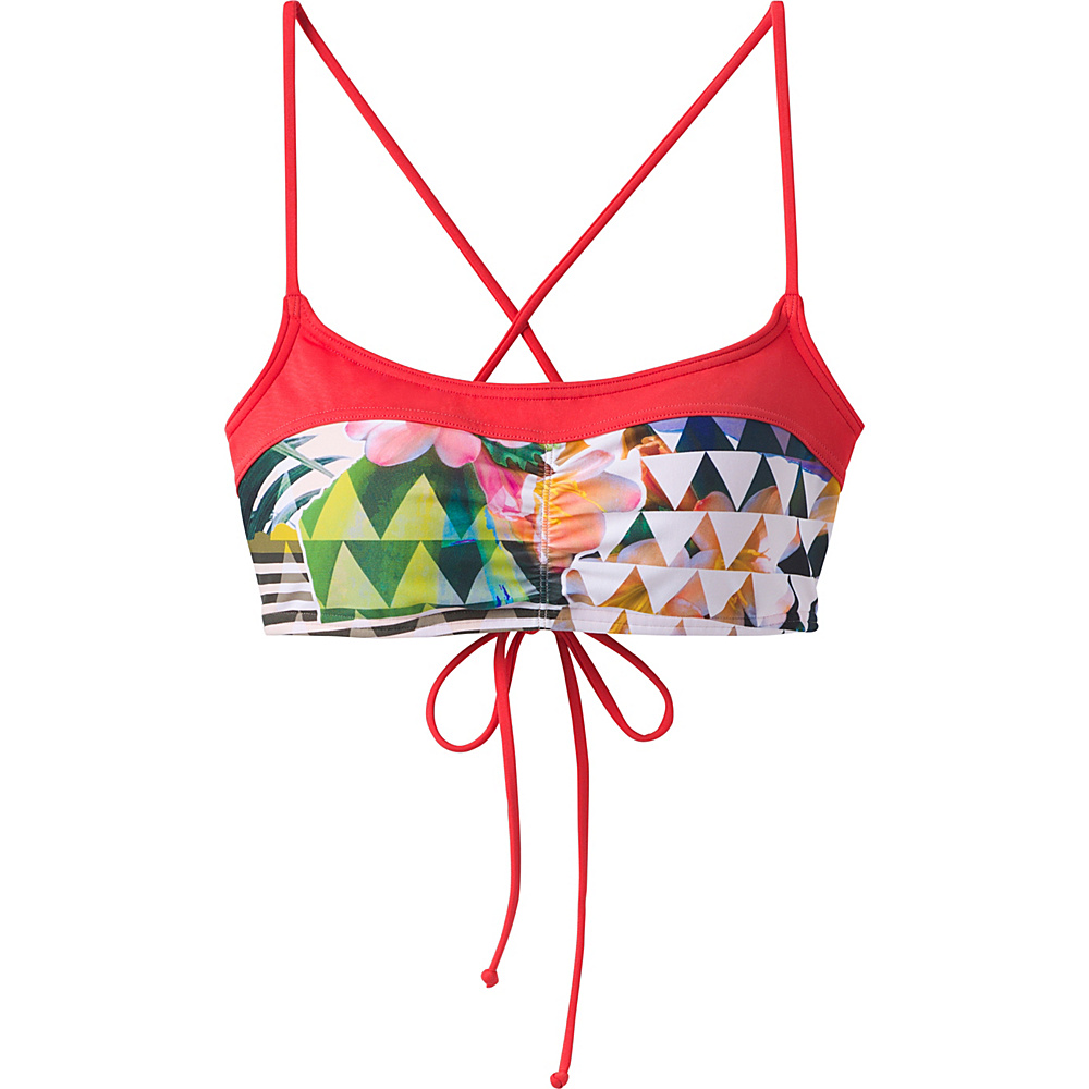 PrAna Makoa Top XS - Carmine Pink Paradise - PrAna Womens Apparel - Apparel & Footwear, Women's Apparel