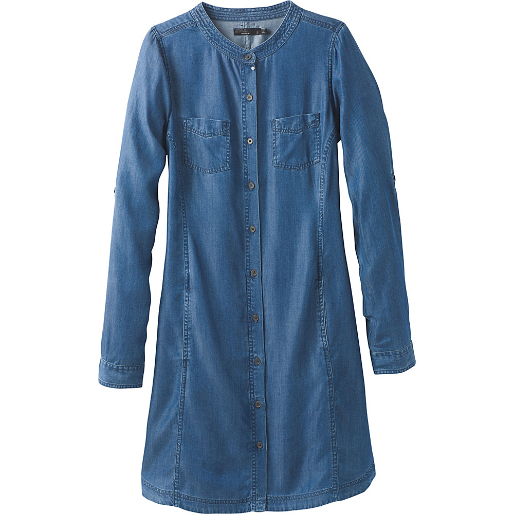 PrAna Aliki Shirt Dress XL - Antique Blue - PrAna Womens Apparel - Apparel & Footwear, Women's Apparel