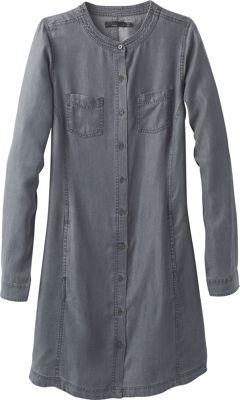 PrAna Aliki Shirt Dress XS - Grey Wash - PrAna Women's Apparel 10638414