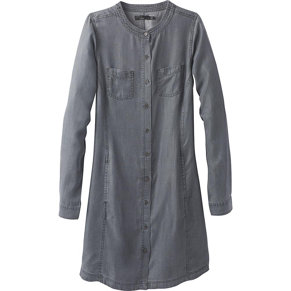 PrAna Aliki Shirt Dress M - Grey Wash - PrAna Womens Apparel - Apparel & Footwear, Women's Apparel