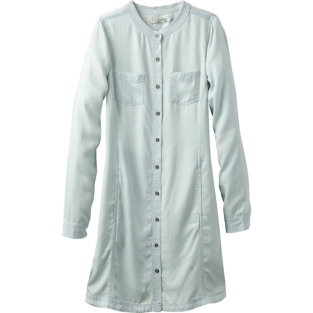 PrAna Aliki Shirt Dress XS - White Wash - PrAna Womens Apparel - Apparel & Footwear, Women's Apparel